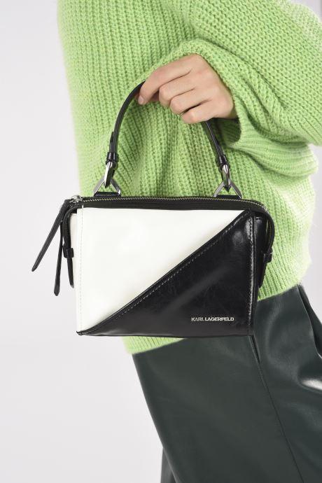 Handtaschen Karl Lagerfeld K/Splash Md Top Handle schwarz ansicht von unten / tasche getragen