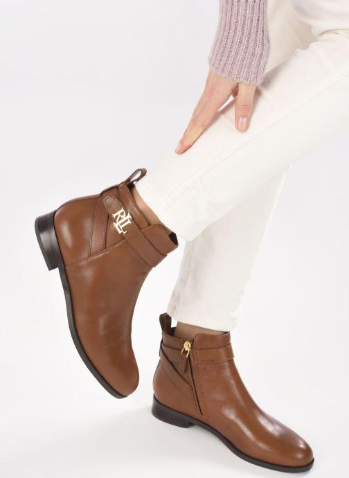 Bottines et boots Lauren Ralph Lauren BONNE Marron vue bas / vue portée sac