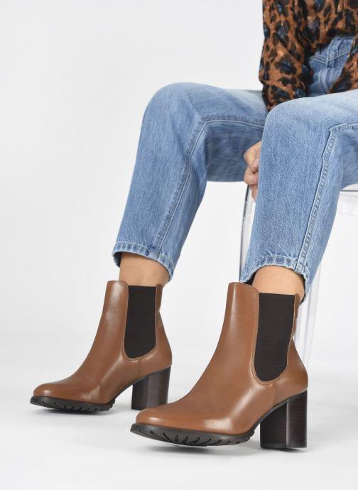 Stiefeletten & Boots Dune London PARTNA braun ansicht von unten / tasche getragen
