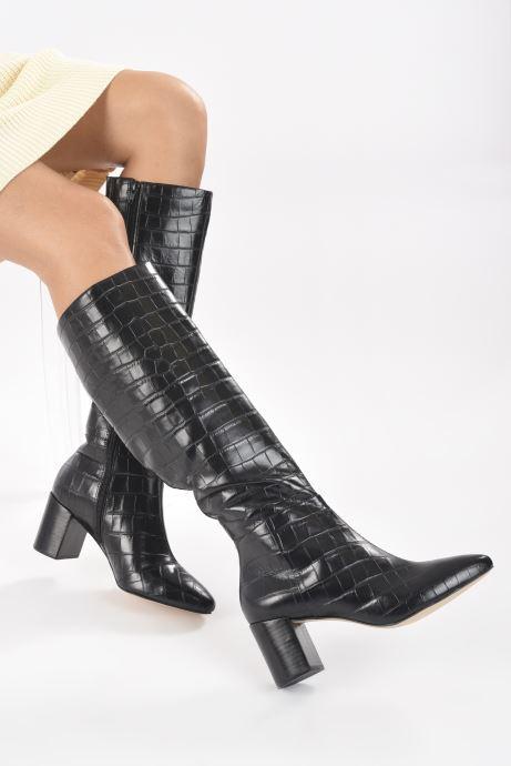 Stiefel Dune London SAFFIA schwarz ansicht von unten / tasche getragen