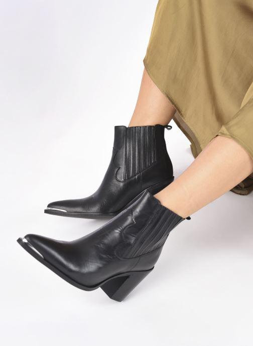 Bottines et boots San Marina AGUEDA Noir vue bas / vue portée sac