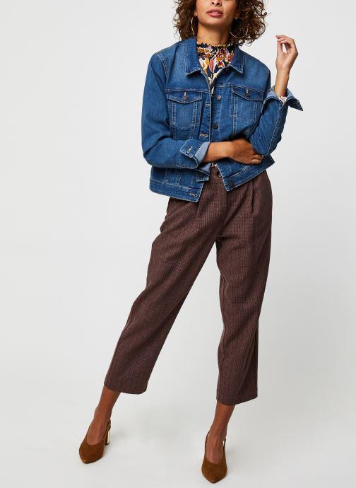 Vêtements Noisy May Nmdebra L/S Denim Jacket Bleu vue bas / vue portée sac