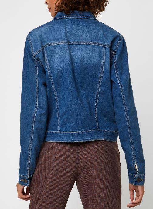 Vêtements Noisy May Nmdebra L/S Denim Jacket Bleu vue portées chaussures