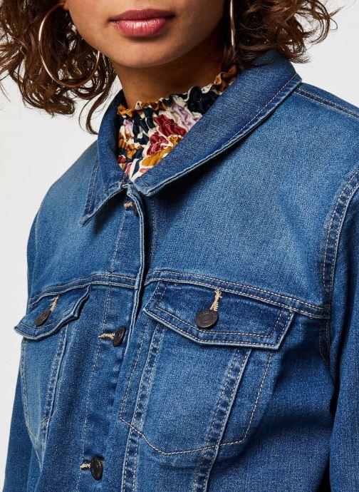 Vêtements Noisy May Nmdebra L/S Denim Jacket Bleu vue face