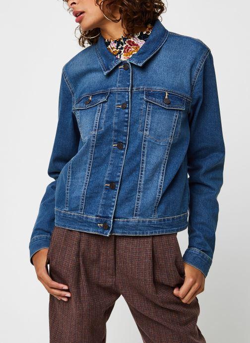 Vêtements Noisy May Nmdebra L/S Denim Jacket Bleu vue droite
