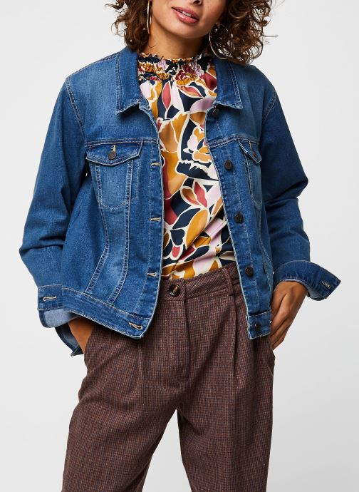 Vêtements Noisy May Nmdebra L/S Denim Jacket Bleu vue détail/paire