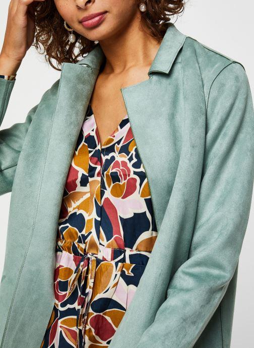 Vêtements Noisy May Nmsue L/S Coatigan Vert vue face