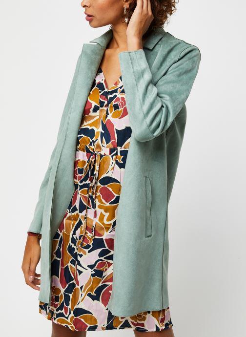 Vêtements Noisy May Nmsue L/S Coatigan Vert vue droite