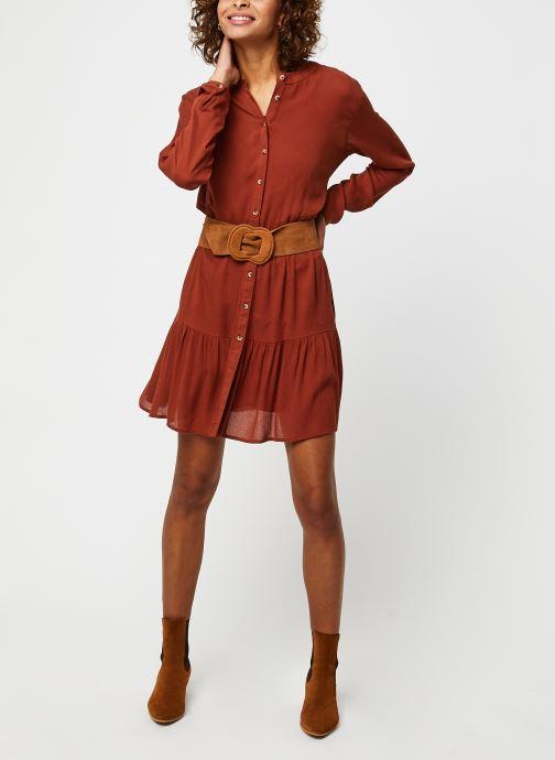 Vêtements Noisy May Nmfleur L/S Dress Orange vue bas / vue portée sac