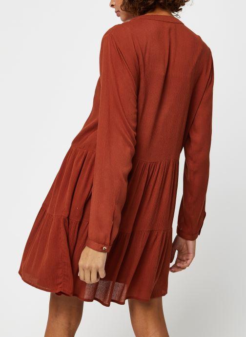 Vêtements Noisy May Nmfleur L/S Dress Orange vue portées chaussures