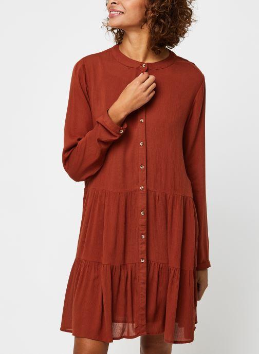 Vêtements Noisy May Nmfleur L/S Dress Orange vue droite