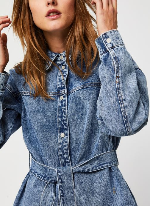 Vêtements Noisy May Nmcarly L/S Belt Dnm Jt Bleu vue face