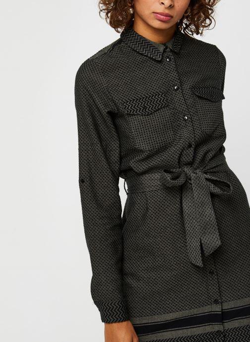 Vêtements Noisy May Nmwinny L/S Shirt Dress Vert vue face