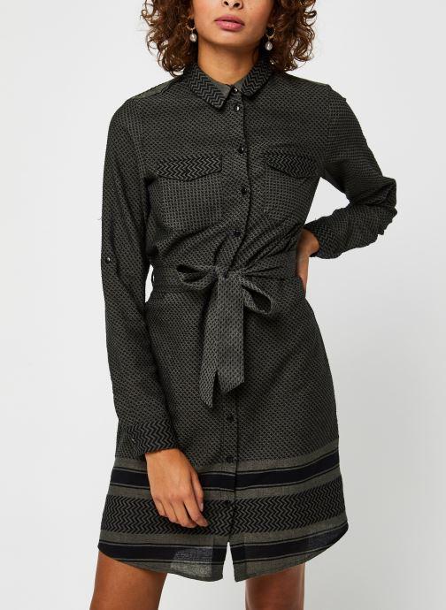 Vêtements Noisy May Nmwinny L/S Shirt Dress Vert vue droite