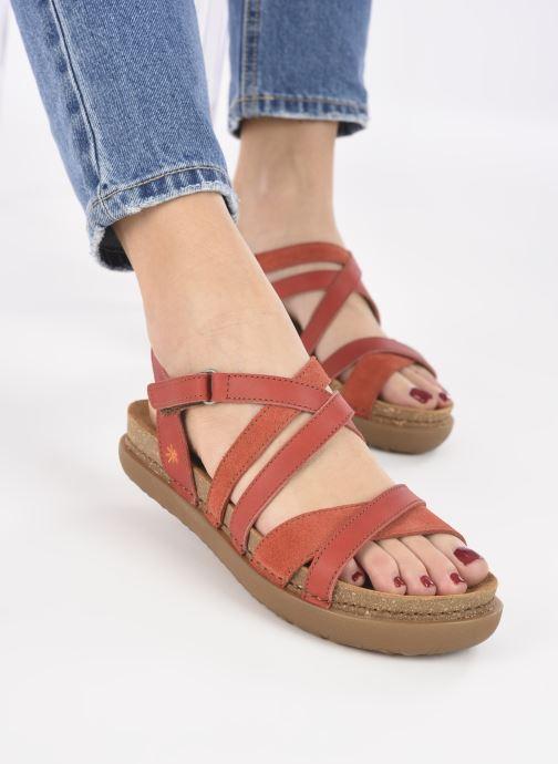 Sandales et nu-pieds Art RHODES 1714 Rouge vue bas / vue portée sac