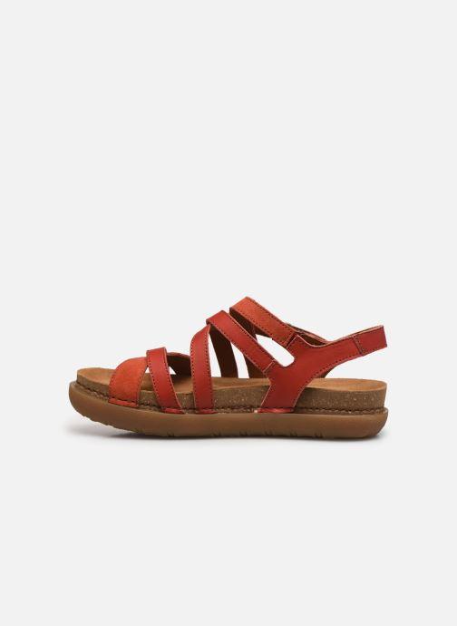 Sandales et nu-pieds Art RHODES 1714 Rouge vue face