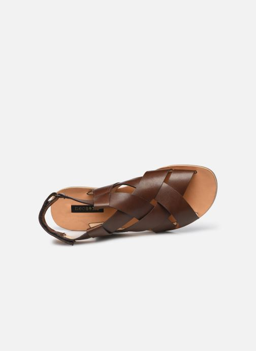 Sandales et nu-pieds Neosens DAPHNI S3125 Marron vue gauche