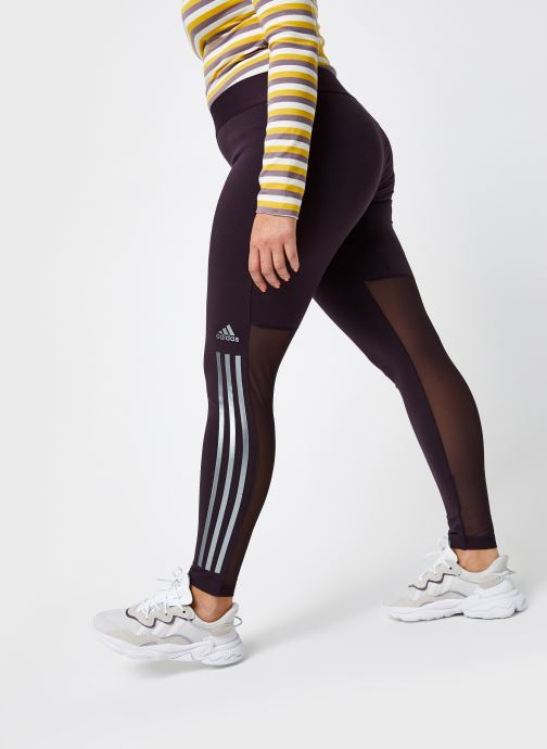 Vêtements adidas performance W St Glam Tight Violet vue détail/paire