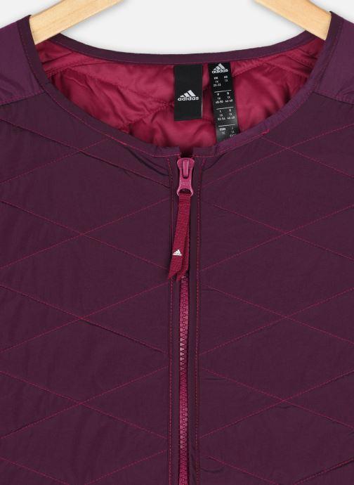 Vêtements adidas performance W Zne Padded Jk Inclusive Sizing Bordeaux vue face