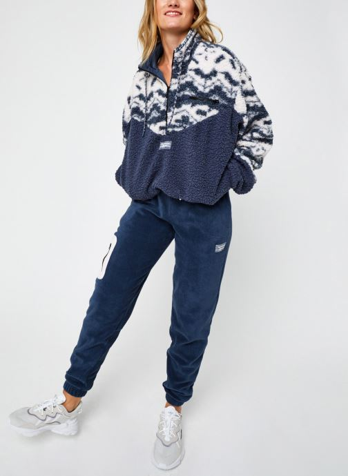 Vêtements Reebok Cl Gp We Fleece Aop Hz Bleu vue bas / vue portée sac