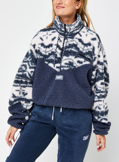 Vêtements Reebok Cl Gp We Fleece Aop Hz Bleu vue droite