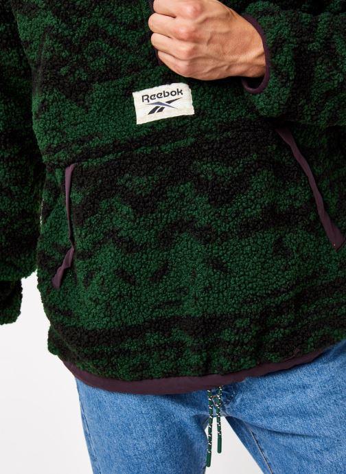 Vêtements Reebok Cl Gp We Rev Fleece Hz Vert vue face