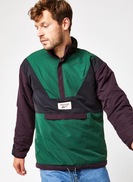 Vêtements Reebok Cl Gp We Rev Fleece Hz Vert vue droite