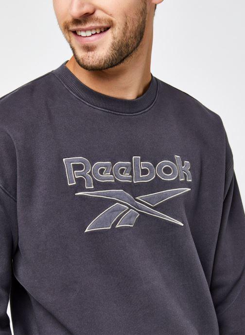 Vêtements Reebok Cl Gp Premium Vector Crew Noir vue face