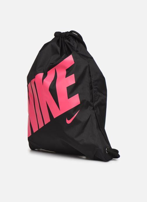 Sporttaschen Nike Kids' Nike Graphic Gym Sack schwarz schuhe getragen