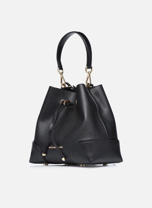 Handtaschen Michael Michael Kors MERCER GALLERY SM CONV BCKT SHLDR schwarz schuhe getragen