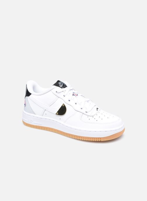 Baskets Nike Air Force 1 Lv8 1 Ho20 (Gs) Blanc vue détail/paire
