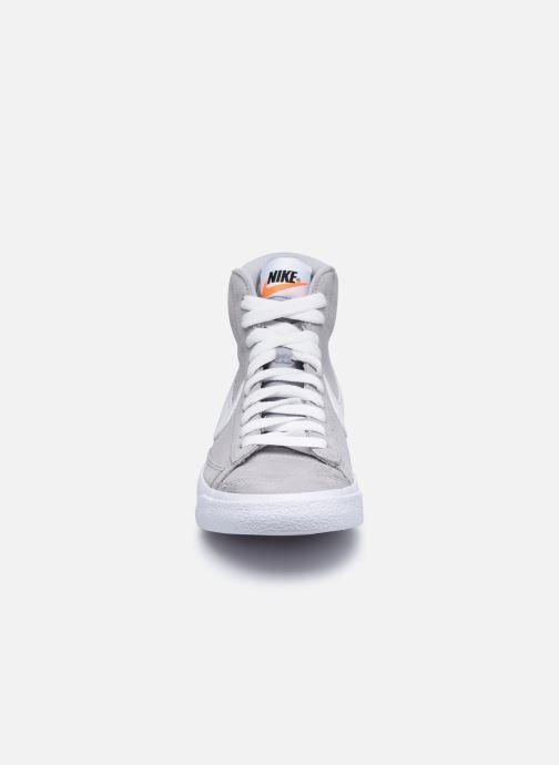 Sneaker Nike Nike Blazer Mid '77 Suede (Gs) grau schuhe getragen
