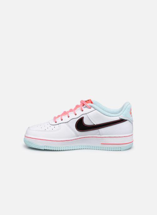 Sneaker Nike Nike Air Force 1 '07 Lv8 Gs weiß ansicht von vorne