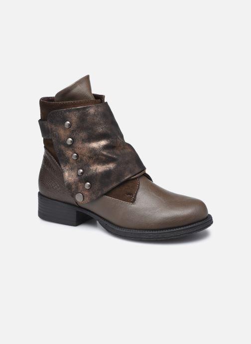 Ankelstøvler Initiale Paris Sundly Brun detaljeret billede af skoene