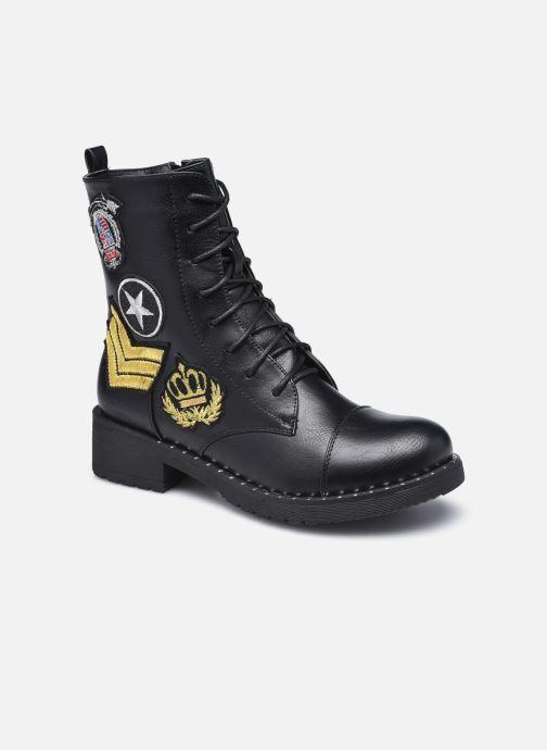 Ankelstøvler Initiale Paris Tea Sort detaljeret billede af skoene