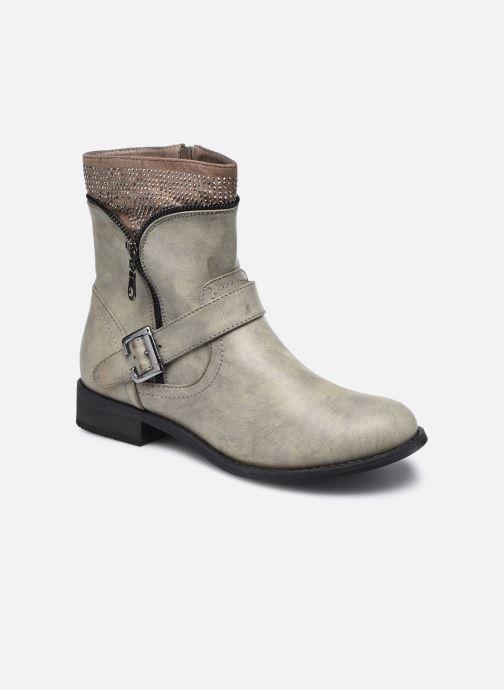 Ankelstøvler Initiale Paris Trouble Grå detaljeret billede af skoene