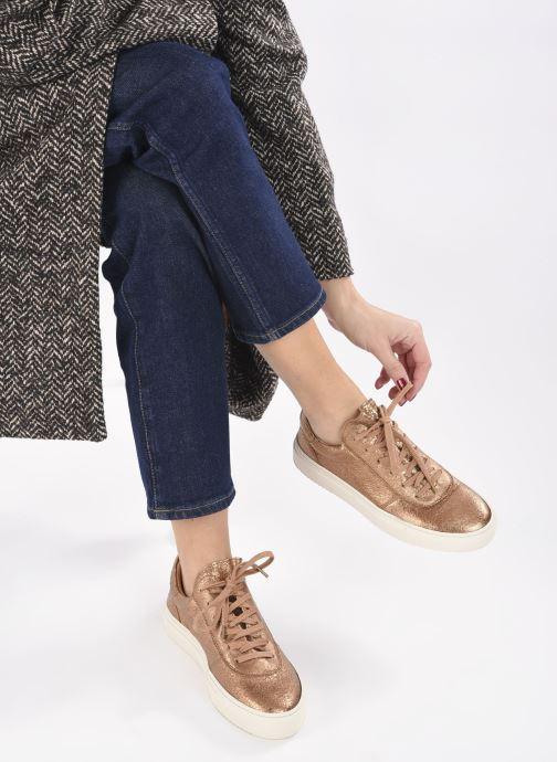 Sneaker Minelli F51 701/MET gold/bronze ansicht von unten / tasche getragen