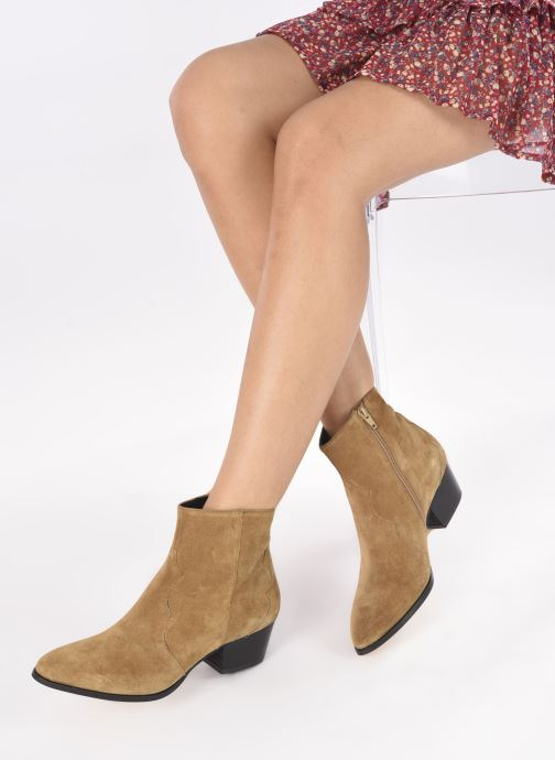 Stiefeletten & Boots Minelli F60 733/VEL TABAC braun ansicht von unten / tasche getragen