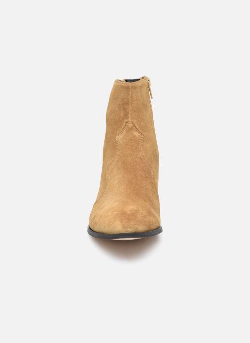 Stiefeletten & Boots Minelli F60 733/VEL TABAC braun schuhe getragen