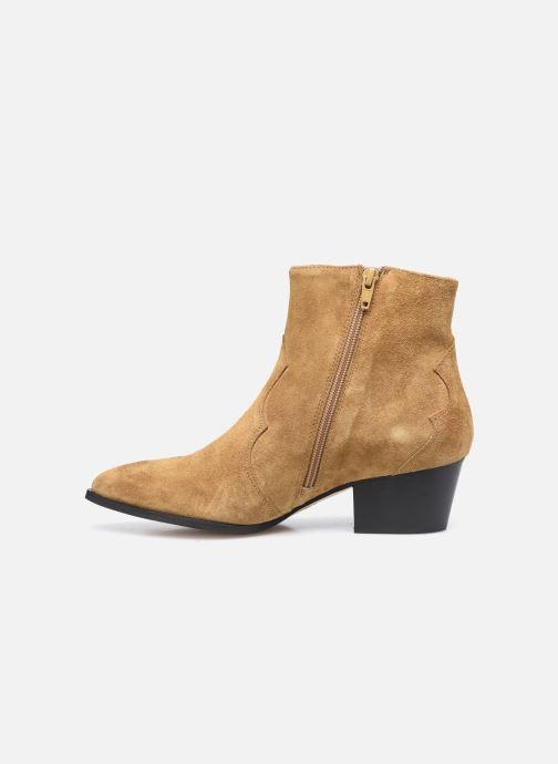 Stiefeletten & Boots Minelli F60 733/VEL TABAC braun ansicht von vorne