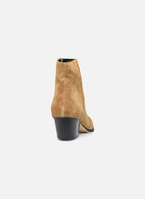 Stiefeletten & Boots Minelli F60 733/VEL TABAC braun ansicht von rechts