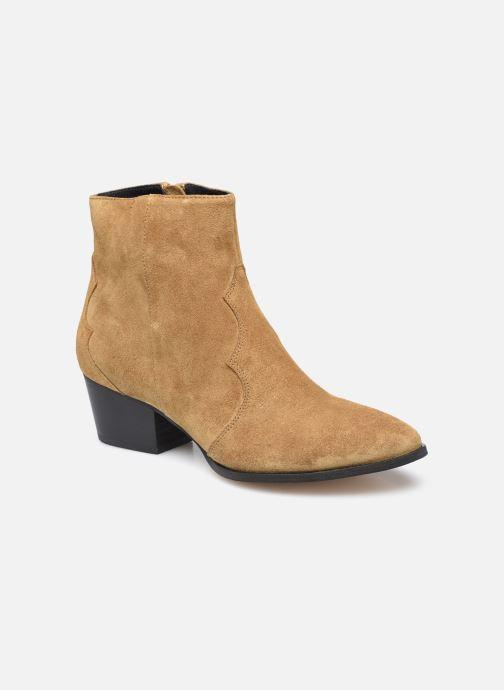 Boots en enkellaarsjes Dames F60 733/VEL TABAC