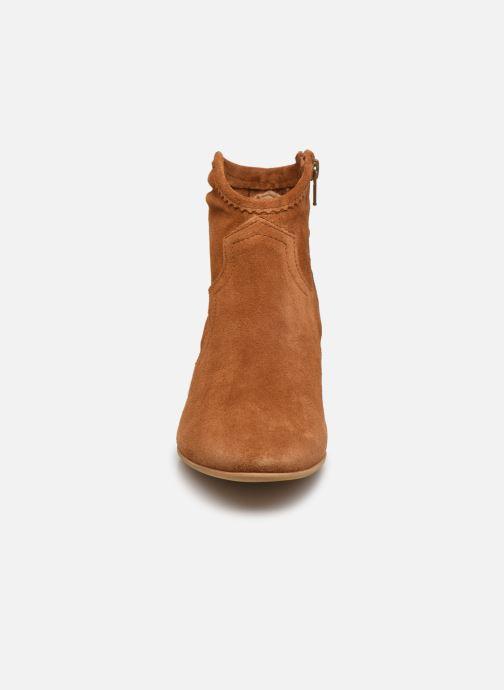 Boots en enkellaarsjes Minelli F80 202/VEL Bruin model