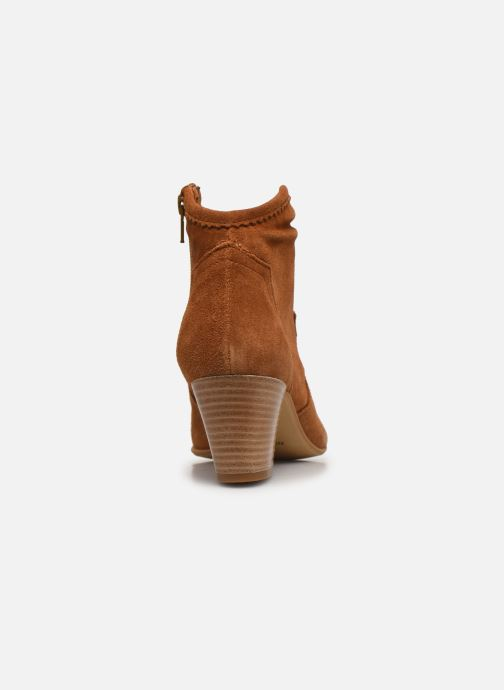 Boots en enkellaarsjes Minelli F80 202/VEL Bruin rechts
