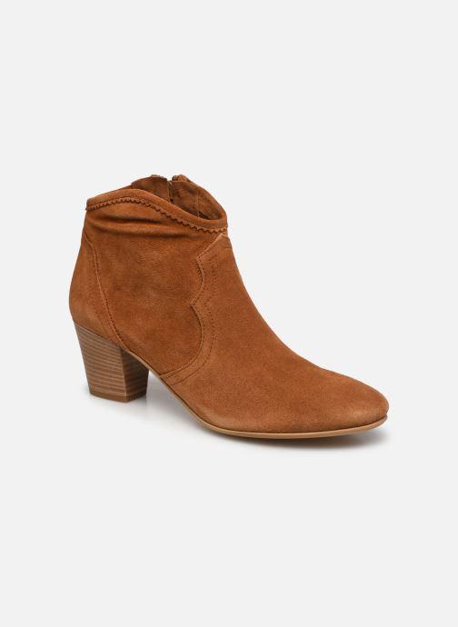 Bottines et boots Minelli F80 202/VEL Marron vue détail/paire