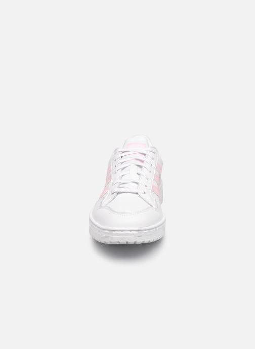 Sneaker adidas originals Team Court W weiß schuhe getragen