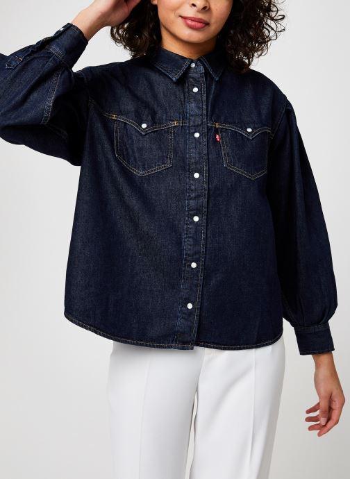 Vêtements Levi's Payton Ls Western Bleu vue détail/paire
