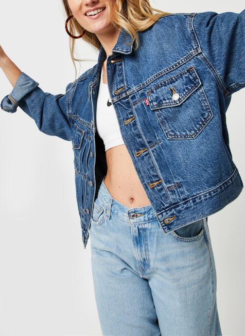 Vêtements Levi's New Heritage Trucker Bleu vue détail/paire