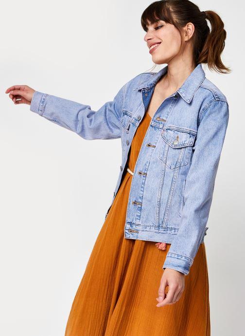 Vêtements Levi's Ex Boyfriend Trucker Bleu vue détail/paire