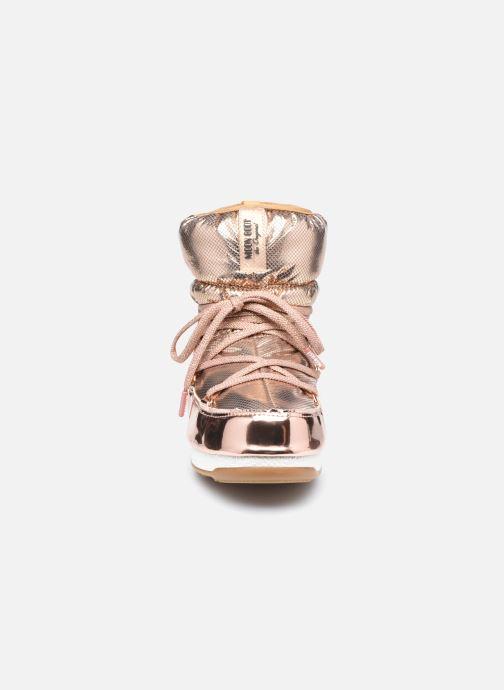 Chaussures de sport Moon Boot Moon Boot Low ST.Moritz Or et bronze vue portées chaussures